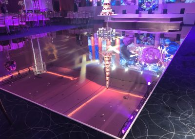 Gold Mirror Dance Floor
