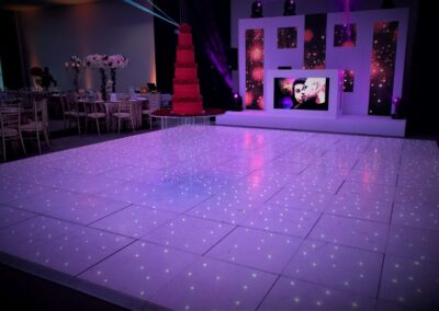 White LED Split Screen with white LED Dance Floor